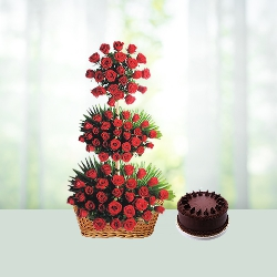 LifeStyle Flowers - Cake Hamper