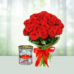 Rose n Rasgulla Combo Gift
