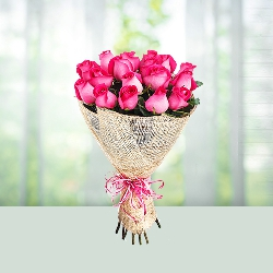 Flowers Bouquet of pink roses