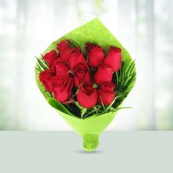 50 Red Roses Flowers Basket