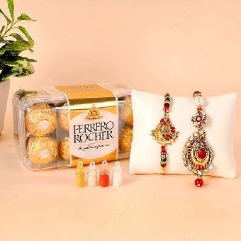 Bhaiya Bhabhi Rakhi choco Gifts