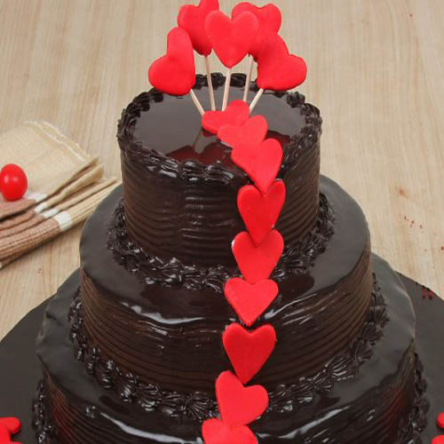 3 Tier Chocolate Cream Cake