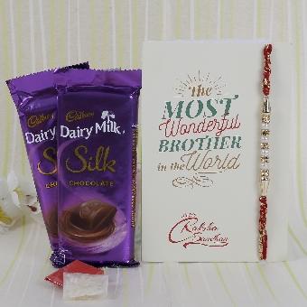 Rakhi special Cadbury Silk Combo