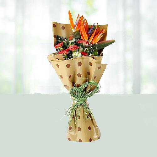 Exotic Carnation N Bird of Paradise
