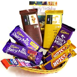 Mini choco Basket N Greeting Card