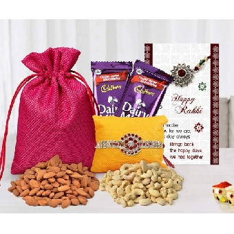 Rakhi Special for Brother with Dryfruits.
