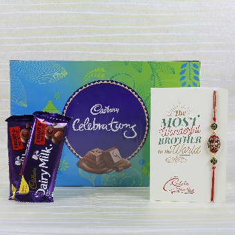 Rakhi and Cadbury treat.