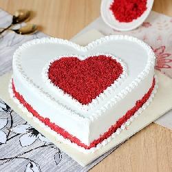 Heart Shape luxury red velvet cake