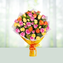 60 Mix Roses Bouquet