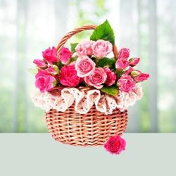 Miss You Rose Basket