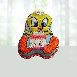 Tweety Bird Shape Cake