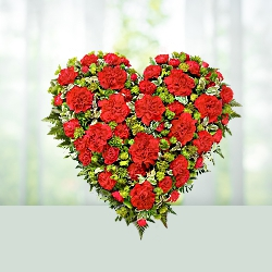 45 Red Carnations Heart Shaped Arrangement for Valentine gifts to India