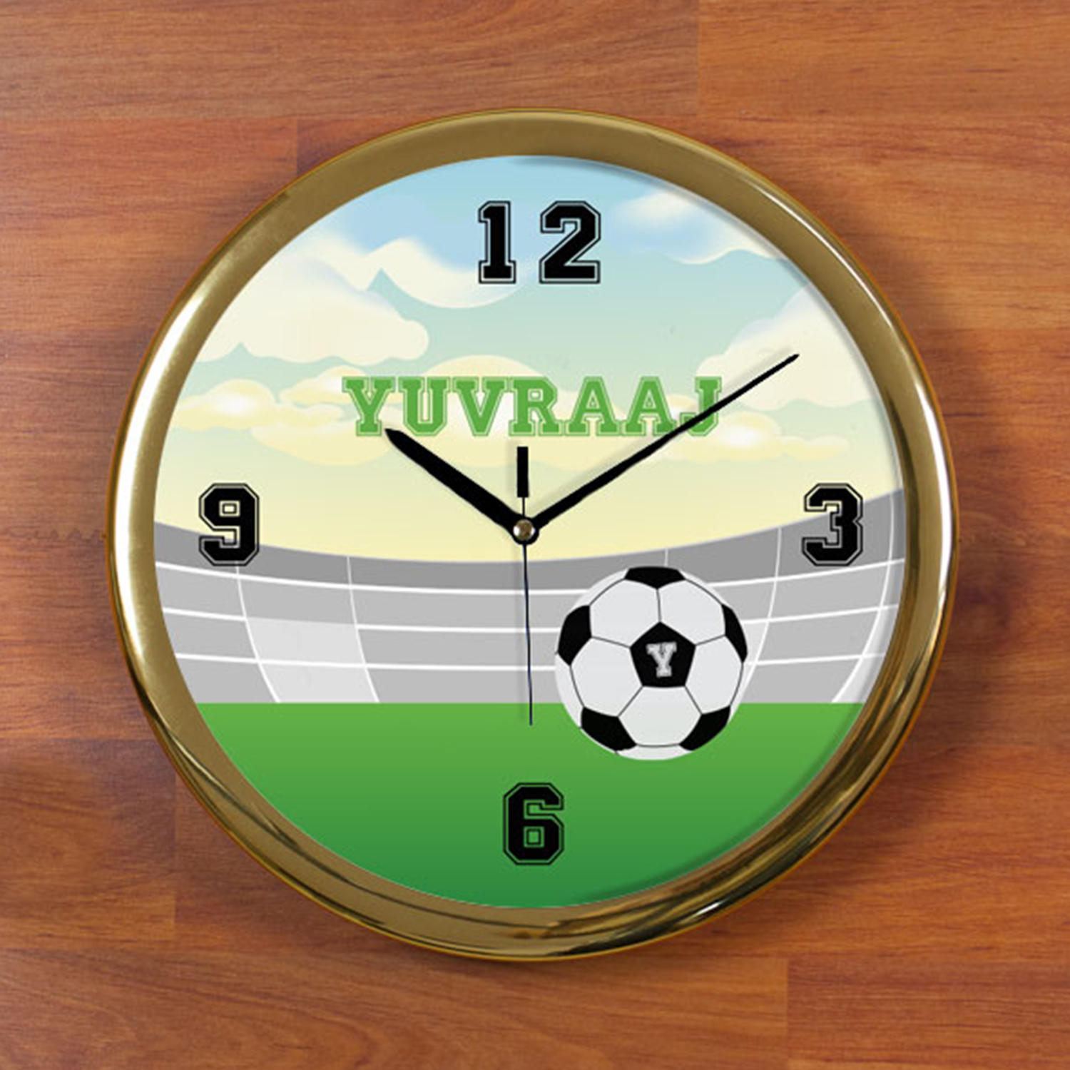 Play Boy Personalized Wall Clock - Round
