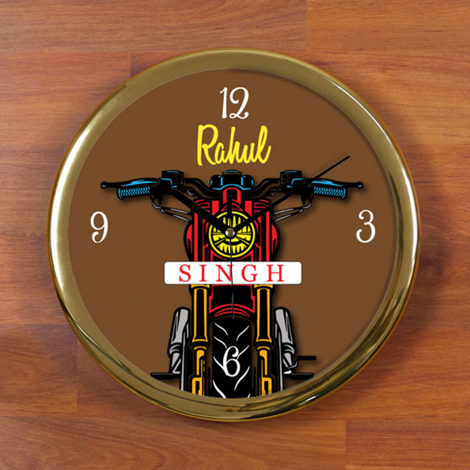 Singh Is King Personalized Wall Clock - Round