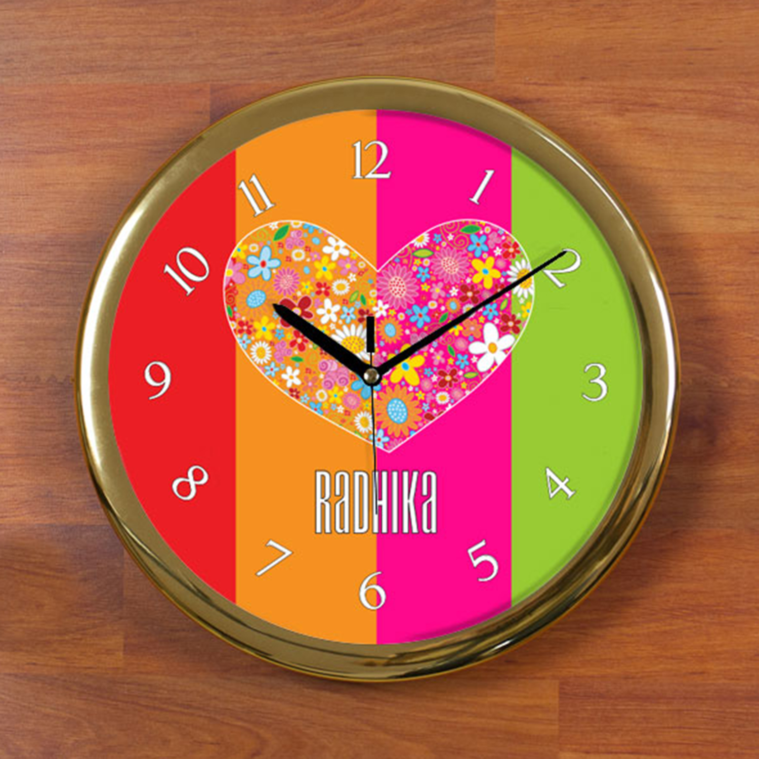 True Heart Personalized Wall Clock - Round