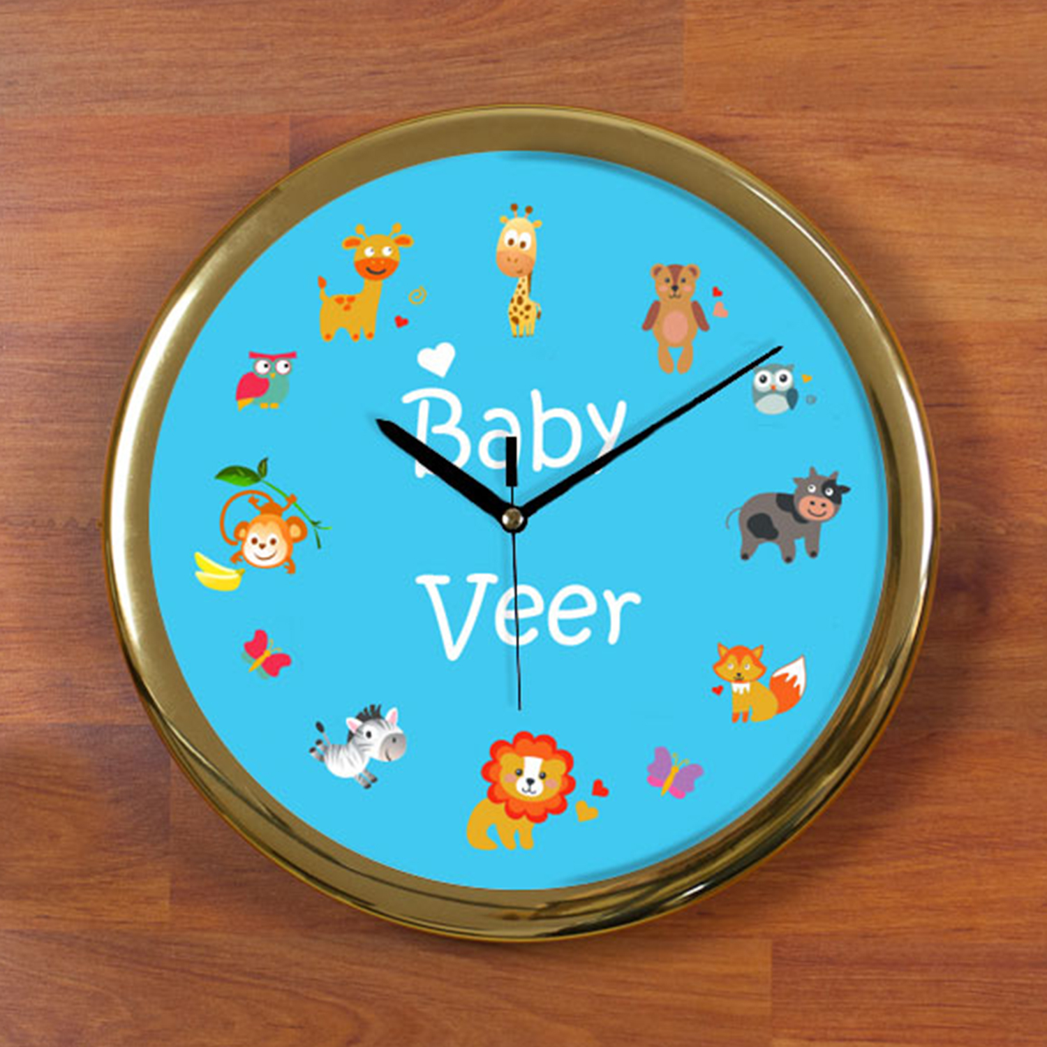 Baby Love Personalized Wall Clock - Round