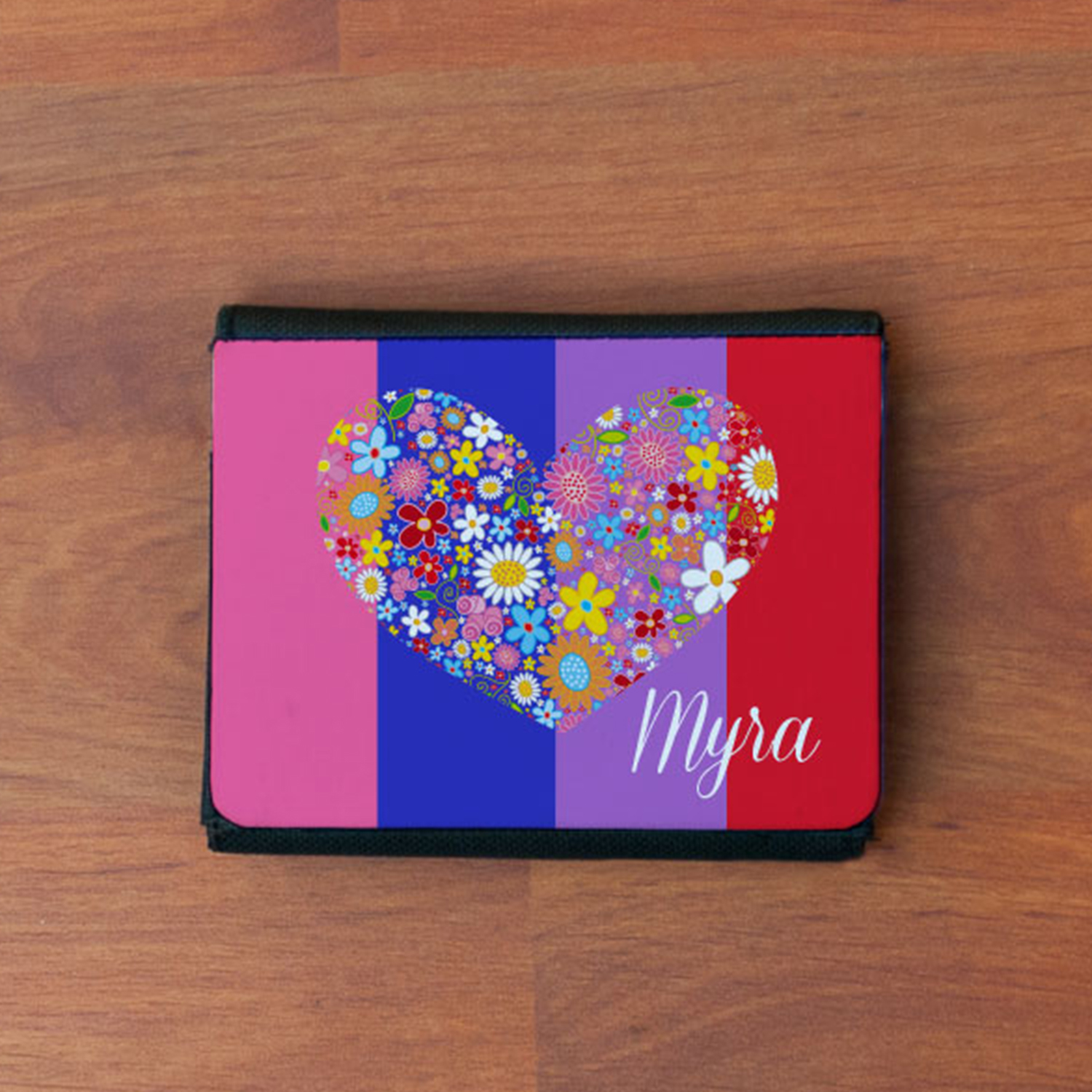 Heart Shape Personalized Gift Wallet For Girls