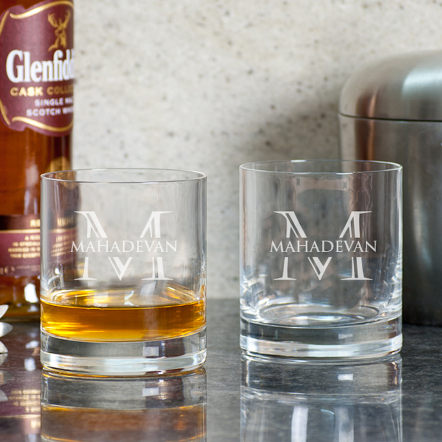 Strong Persona Personalized Gift Whiskey Glasses