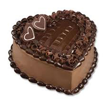 1KG Eggless Heart shape Chocolate Cake