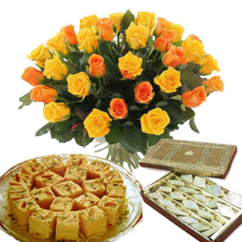 Janmashtami Special Flowers and Sweets Combo