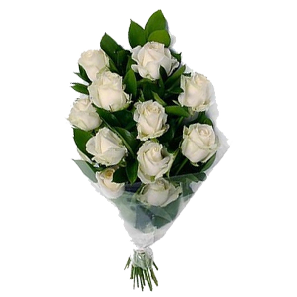 Send 12 White Roses Flowers Bouquet Flowers Online | 15 White Roses ...