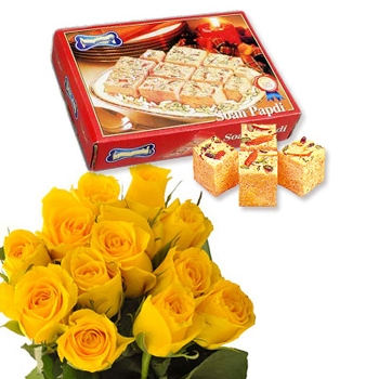 Roses with Soan Papdi