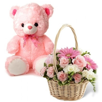 Flower and teddy combo