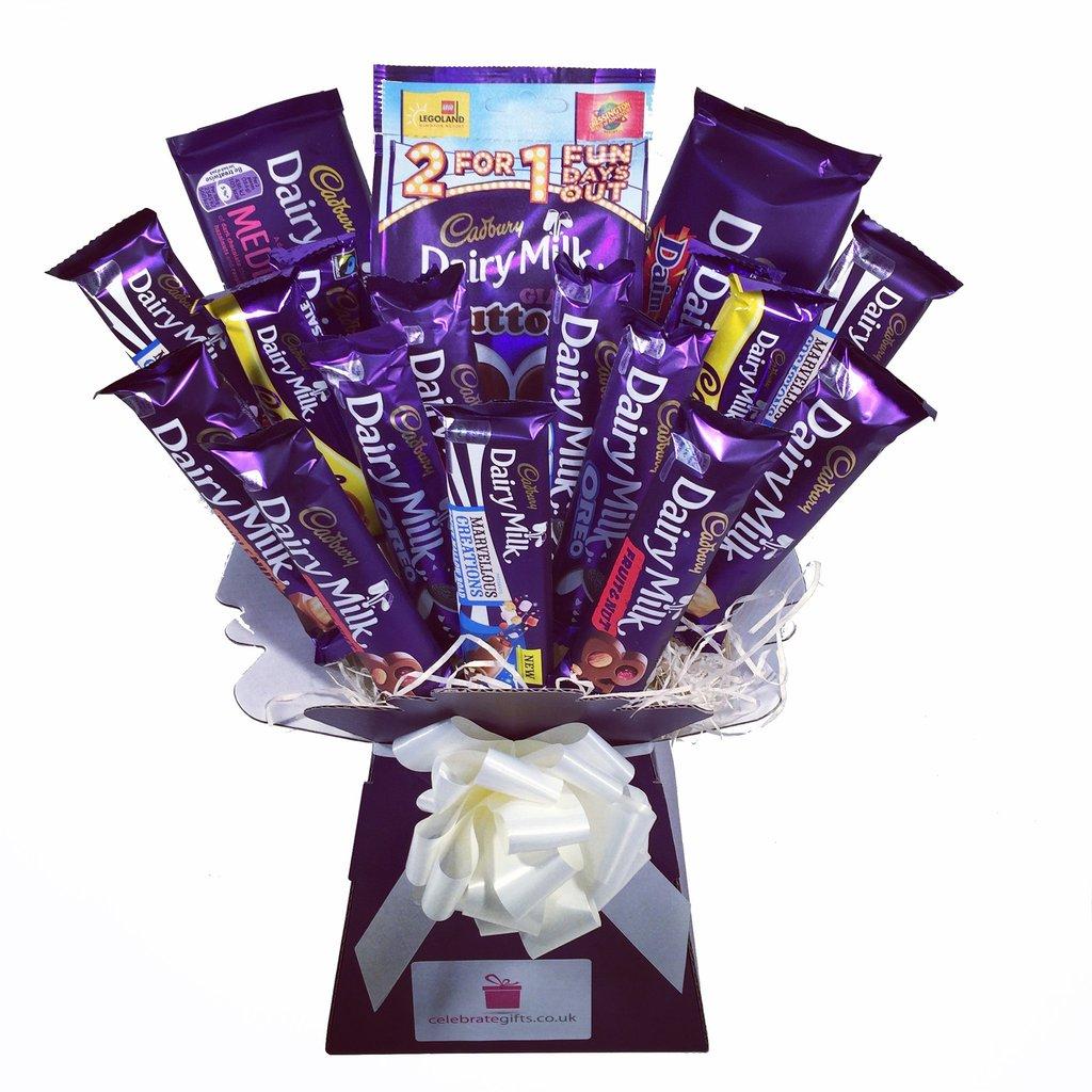 Send Dairy Milk Chocolate Bouquet Flowers And Chocolates Online