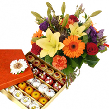 Bihu Sweets with Flowers