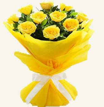 Send flowers bouquet of 10 yellow roses flowers online flowers flower bouquet 10 yellow rosesg mightylinksfo Image collections