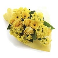 15 Mixed Yellow Flower Flowers Bouquet