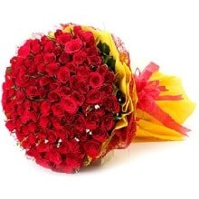 Special 100 Red Roses Flowers Bouquet