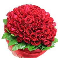 Flowers Bouquet of 100 red roses