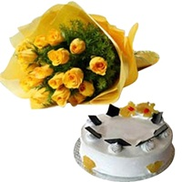 Flowers bouquet Sunshine-online delivery in Delhi