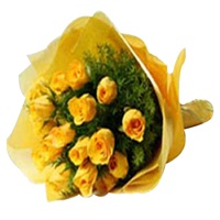 Flowers Bouquet of yellow roses