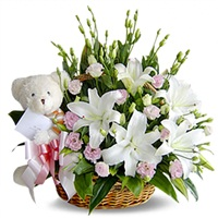 Lilies with Teddy