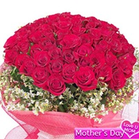 Flowers Bouquet of 50 red roses