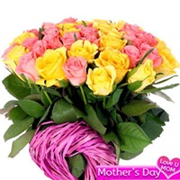 Pink N Yellow Rose Bouquet