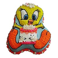 Tweety Bird Shape Cake