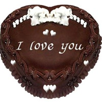 Eggless Heart Chocolate Truffle Cake
