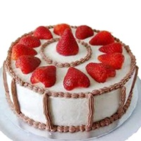 Strawberry Cake Half Kg