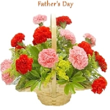 Basket of carnations