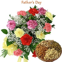 Carnations with Dryfruits