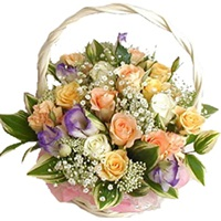 Basket of 15 Mix Roses