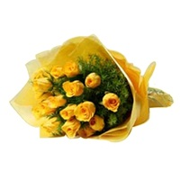 Flowers bouquet-Yellow Surprise-Delhi flowers Online
