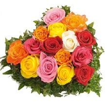 15 Mix Rose Basket