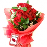Red Roses Flowers Bouquet