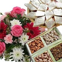 Mix Flowers N Dryfruits
