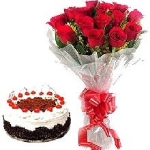 Flowers Cakes Combo- flowers cakes delivery in Banglore