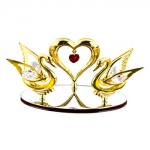 SWANS N HEART 24K GOLD PLATED GIFT
